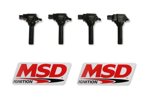 825443 - MSD Ignition Coil fits 2015-2019 Subaru / Scion / Toyota 2.0L H4 engines, Black, 4-Pack Image