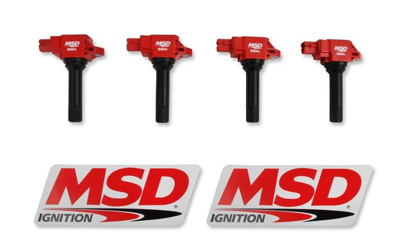 82544 - MSD Red Blaster Coil for Subaru, Scion and Toyota 2.0L Boxer Image