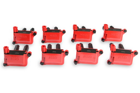 82558 - MSD Ignition Coils 2005-2020 Hemi 5.7L/6.1L/6.2L/6.4L engines, Red, 8-Pack Image