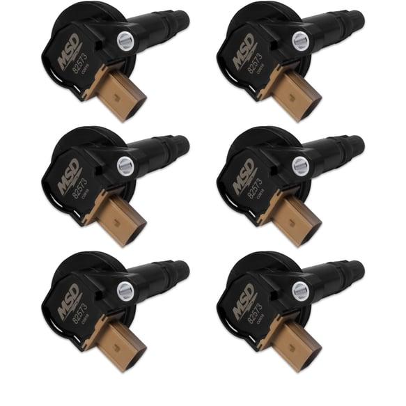 825763 - Ford Black EcoBoost Coils, 6-Pack 3.5L V6 (3-Pin Connector) Image