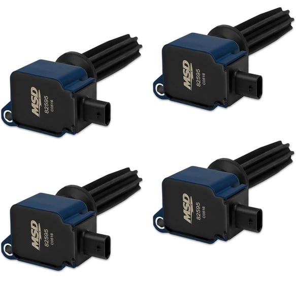 825945 - Coil, Ford EcoBoost 2.0L/2.3L (MSD Blue, 4-Pack) Image