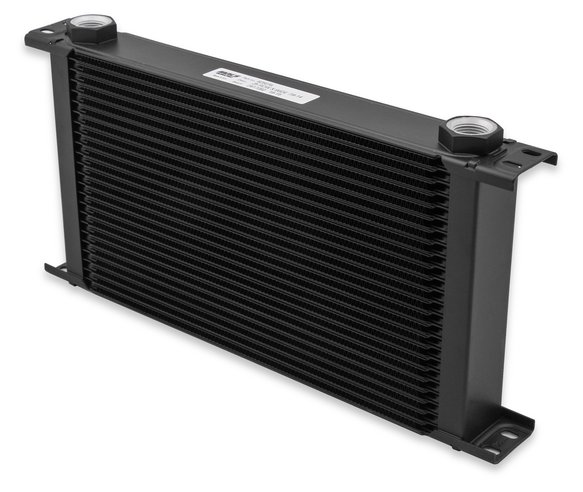 816ERL - Earls UltraPro Oil Cooler - Black - 16 Rows - Extra-Wide Cooler - 10 O-Ring Boss Female Ports Image