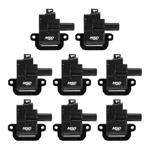 826283 - MSD Black GM LS1/LS6 8-Pack Coils, '98-'06 Image