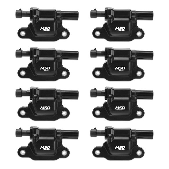 826583 - MSD Black GM L-Series Truck 8-Pack Coils, '99-'09 Image