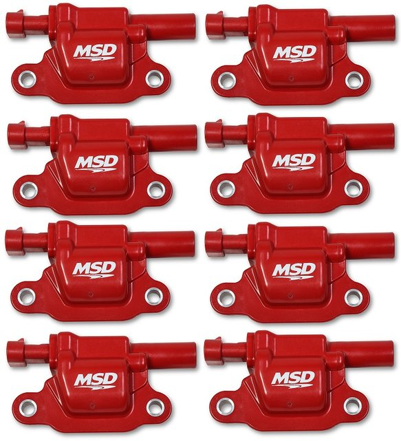 82668 - Blaster Gen V GM Coils, 2014 and Up, Red, Square - 8 Pack Image