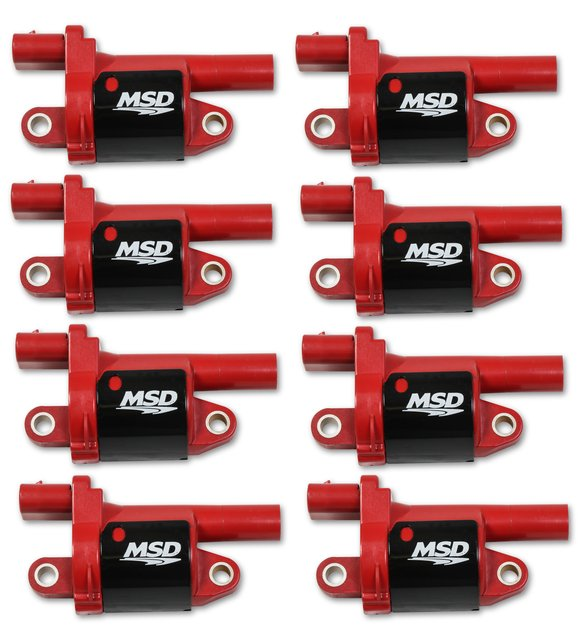 82688 - Blaster Gen V GM Coils, 2014 and Up, Red, Round - 8 Pack Image