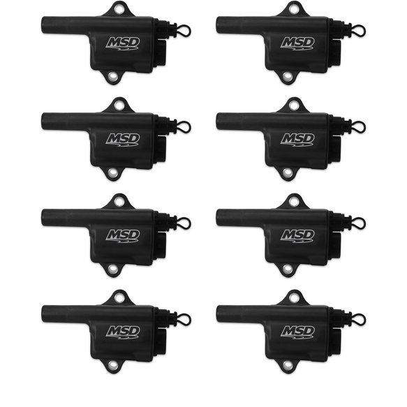 828683 - MSD Ignition Coil Black Pro Power GM LS Truck Style 8-Pack Coils Image