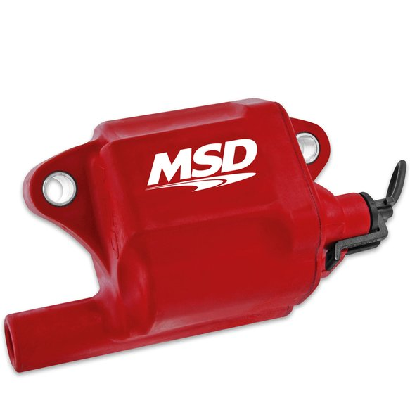 8287 - MSD Ignition Coil Pro Power Series GM LS2/LS7 Engines, Red, Individual Image