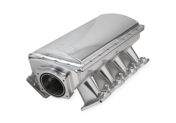 832141 - Sniper EFI Fabricated Race Series Intake Manifold - GM LS1/LS2/LS6 - Silver Image