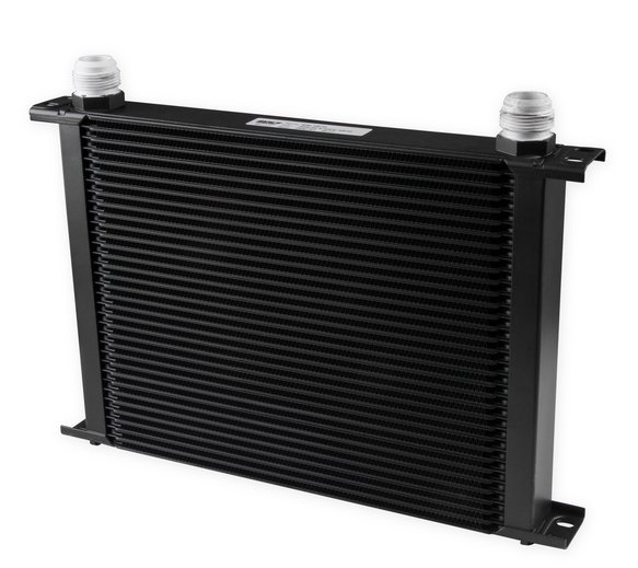 834-16ERL - Earls UltraPro Oil Cooler - Black - 34 Rows - Extra-Wide Cooler - 16 AN Male Flare Ports Image