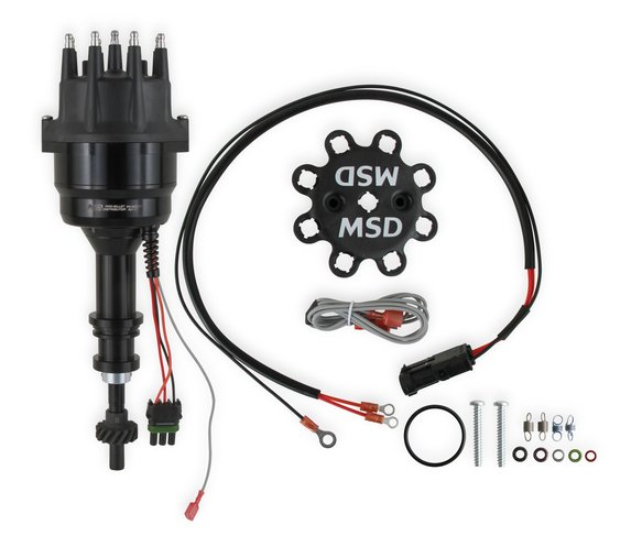 835071 - MSD Ready-to-Run Black Marine Distributor Ford 351-460, Steel Gear Image