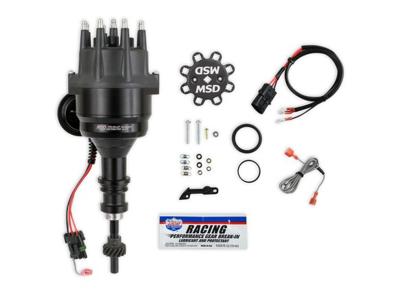 835231 - MSD Black Distributor, Ford 289/302, Ready-to-Run, Steel Gear Image