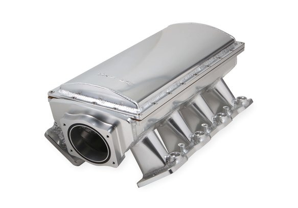838231 - Sniper EFI Fabricated Race Series Intake Manifold - GM LS3/L92 - 90mm - Silver Image