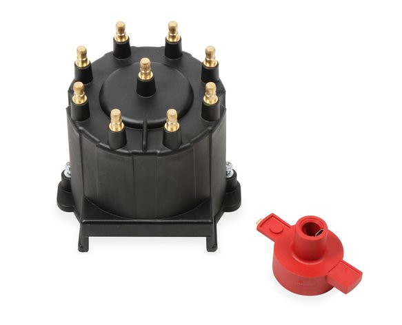 84063 - GM External Coil Black Distributor Cap & Rotor, Image