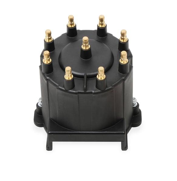 84263 - Black Distributor Cap, GM HEI, Late Model, Ext Coil Image