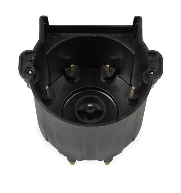 84263 - Black Distributor Cap, GM HEI, Late Model, Ext Coil - additional Image