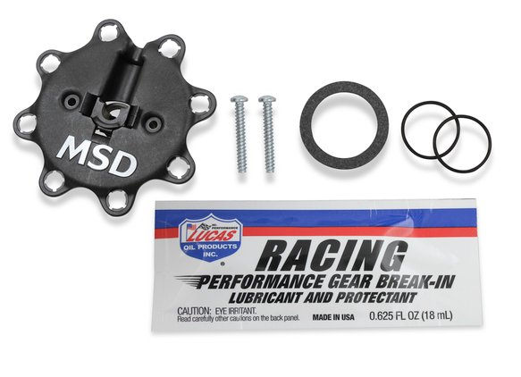 846973 - MSD Black Chevy Low-Profile Crank Trigger Distributor - additional Image