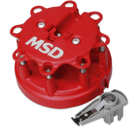 8482 - Distributor Cap and Rotor Kit, MSD/Ford V8 TFI, '85-'95 Image