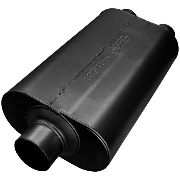 8530552 - Super 50 Muffler 409S - 3.00 Center In / 2.50 Dual Out - Mild Sound Image