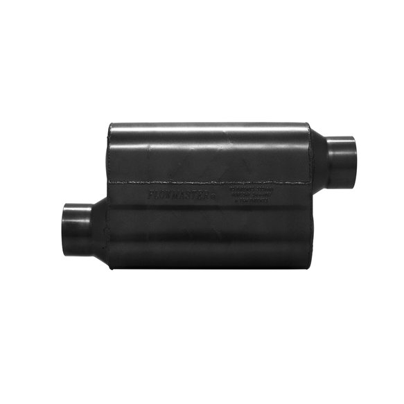 853548 - Super 40 Muffler 409S - 3.50 Offset In / 3.50 Offset Out - Aggressive Sound - additional Image
