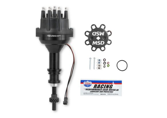 857831 - Black Distributor, Ford 351W, Pro-Billet w/Steel Gear Image