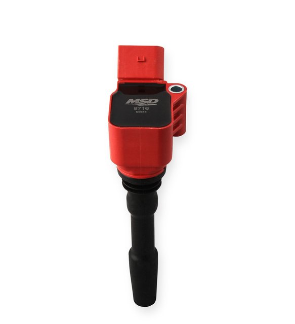 8716 - MSD Ignition Coil Blaster Series 2014-2019 VW/Audi 1.8L/2.0L engines, Red, Individual Image