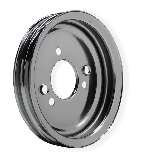 8824MRG - Mr. Gasket Chrome Crankshaft Pulley - Double Groove - additional Image