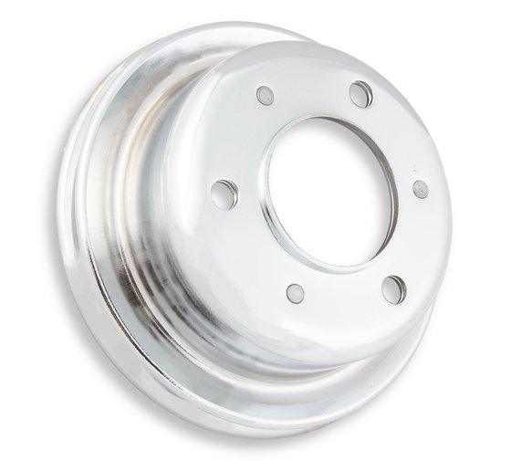 8827 - Crankshaft Pulley - Ford Small Block 1965-66- Chrome - Single Groove Image