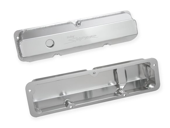 890001 - Sniper Fabricated Aluminum Valve Cover - Ford FE - Silver Finish - additional Image