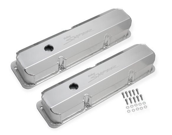 890001 - Sniper Fabricated Aluminum Valve Cover - Ford FE - Silver Finish Image