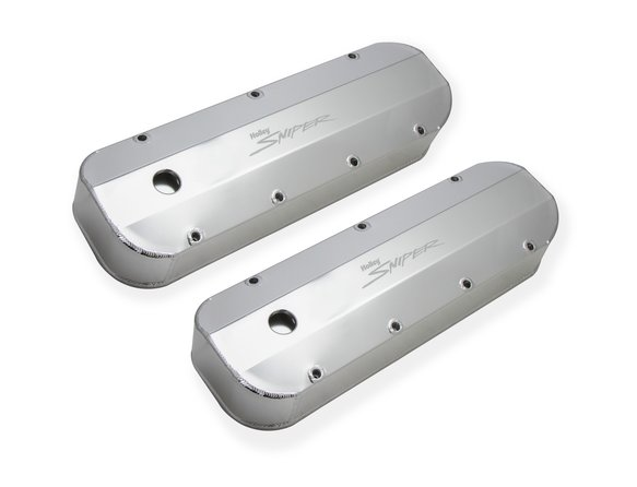 890002 - Sniper Fabricated Aluminum Valve Cover - Chevy Big Block - Silver Finish - additional Image