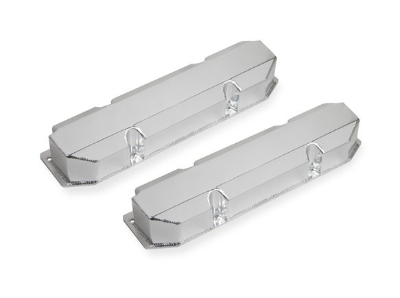 890005 - Sniper Fabricated Aluminum Valve Cover - Chrysler Big Block - Silver Finish Image