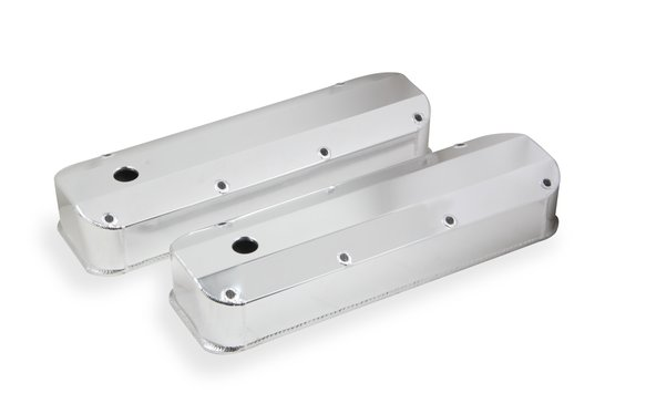 6874G - Fabricated Aluminum Valve Cover - Ford Big Block - Silver Finish Image