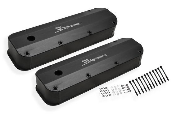 890007B - Sniper Fabricated Aluminum Valve Cover - Ford Big Block - Black Finish Image