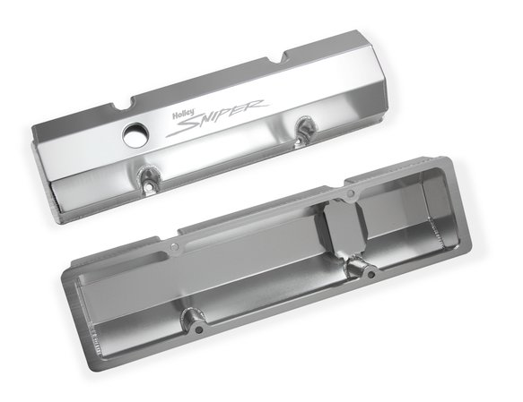 890010 - Sniper Fabricated Aluminum Valve Cover - Chevy Small Block - Natural Finish - additional Image