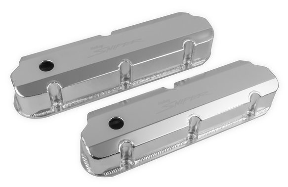 890011 - Sniper Fabricated Aluminum Valve Cover - Ford Small Block - Silver Finish Image