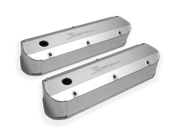 890012 - Sniper Fabricated Aluminum Valve Cover - Ford Small Block - Silver Finish - additional Image