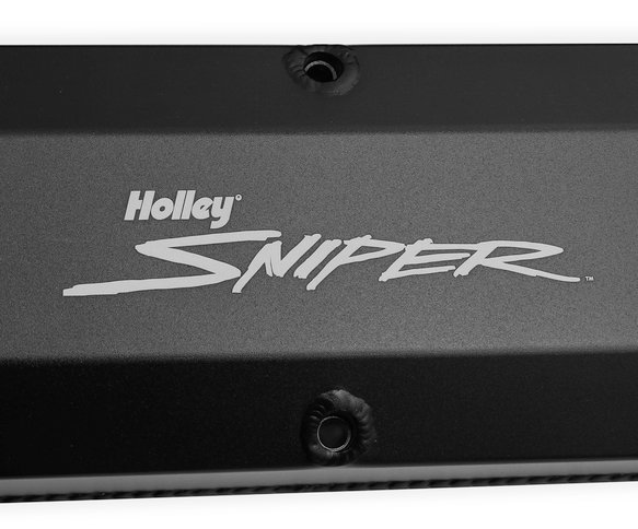 890012B - Sniper Fabricated Aluminum Valve Cover - Ford Small Block - Black Finish - additional Image