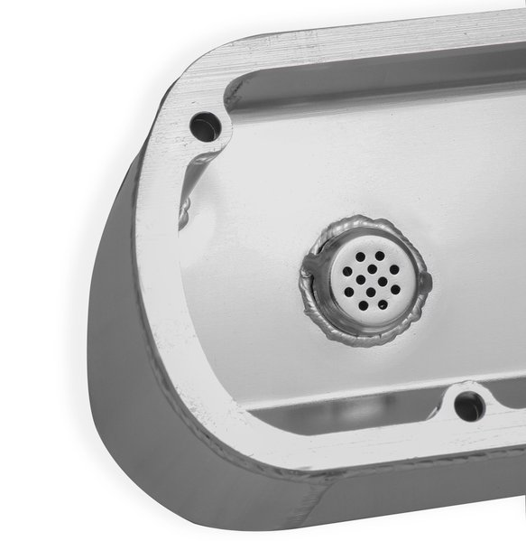 890013 - Sniper Fabricated Aluminum Valve Cover - Ford Small Block - Silver Finish - additional Image