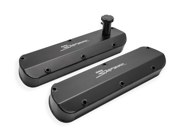 890013B - Sniper Fabricated Aluminum Valve Cover - Ford Small Block - Black Finish - additional Image