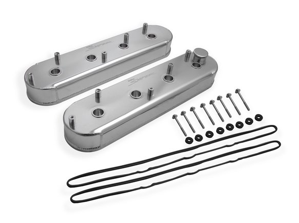 890014 - Sniper Fabricated Aluminum Valve Cover - GM LS Engines - Silver Finish Image
