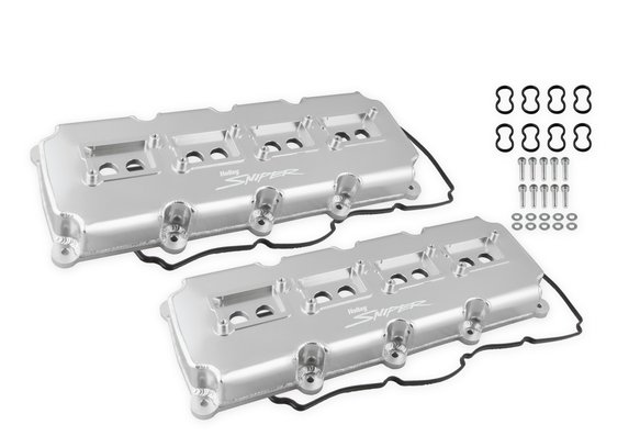 890015 - Sniper Fabricated Valve Covers - 5.7L-6.4L Mopar Gen III Hemi - Silver Finish Image