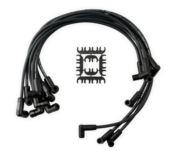 9011CK - Spark Plug Wire Set - Extreme 9000 Black Ceramic Boot - Chevy/GMC V8 HEI 75-86 Over Valve Cover Image