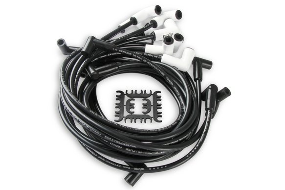 9018C - Spark Plug Wire Set - Chevy Small Block with HEI 75-86 Wires Under Valve Cover Image
