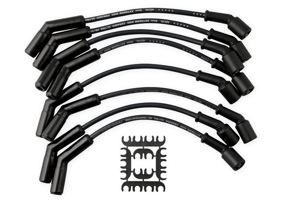 9065CK - Spark Plug Wire Set - Extreme 9000 Black Ceramic Boot - Chevy / GM 2001-2004 - 3/4 & 1 Ton 8.1L Image