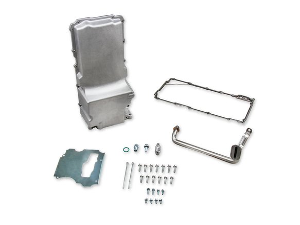WB11008 - White Box GM LS Retro-fit Oil Pan - 1955-87 GM/Muscle Car/Classic Car/Trucks - Natural Cast Finish Image
