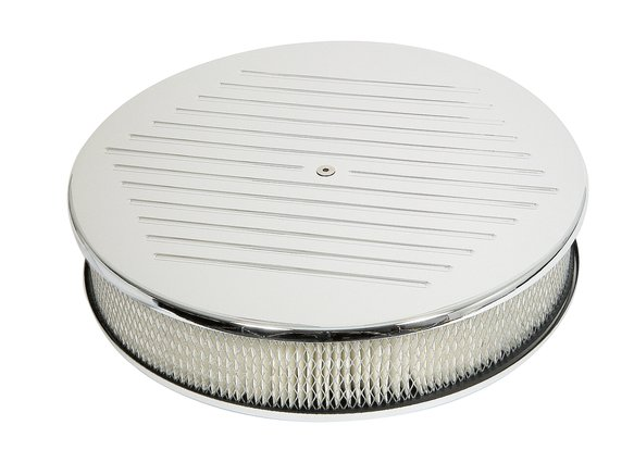 9161G - CHROME ALUMinum 14X3 Air Cleaner - MILLED Image