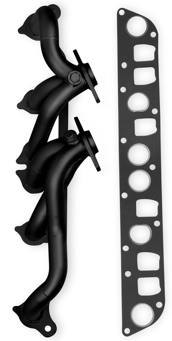 92003FLT - Flowtech Shorty Header - Black Painted Image
