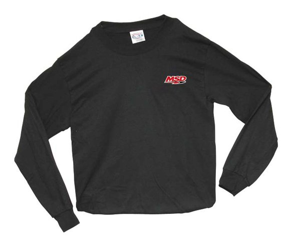 9375 - MSD Long Sleeve T-Shirt, Black, Large Image