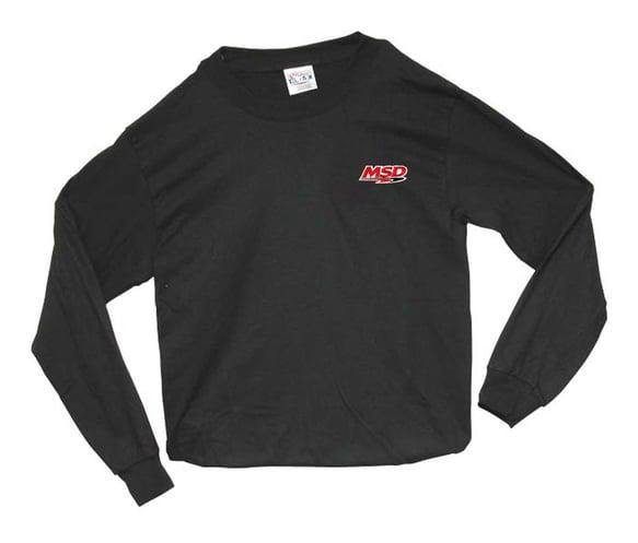 9375 - MSD Long Sleeve T-Shirt, Black, Large Image